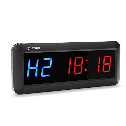 Jhering 1.5 インチ 6デジタル 永遠の定番 LED インターバル タイマー 人気ブレゼント! フィットネス ストップウォッチ クロック ジム カウントダウン ホーム用