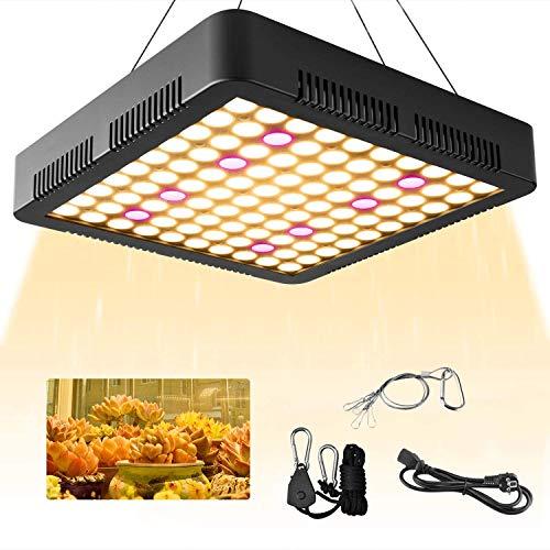 YC 屋内栽培ライト LED植物育成ライト 植物育成用 植物ライト 1200W 室内植物成長ライト 全フルスペクトル 300ledチップ 8000lm 日照