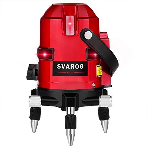 SVAROG 墨出し器 フルライン 日時指定 爆安プライス レーザー墨出し器 縦×4 横×3 横全周ライン レーザ レーザーレベル 増強ポイント 7ライン EP-7R 高輝度