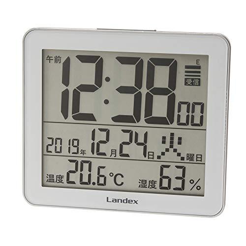ランデックス Landex 置き時計 特価キャンペーン シルバー デジタル スリーユニット YT5277SV1 電波 注文後の変更キャンセル返品