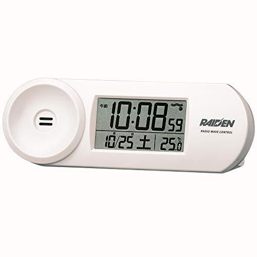 セイコークロック 置き時計 02:白 本体サイズ:5.1x14.4x4.2cm 当店は最高な サービスを提供します 電波 デジタル PYXIS バーゲンセール 大音量 RAIDEN ピクシス BC407W