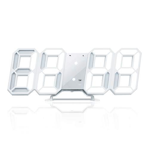 2021版 Lubanheart デジタル時計 LED ライト 置き時計 壁掛け時計 目覚まし時計 1 安心の定価販売 店 3つ表示パターン おしゃれ 現在時刻 USB給電式