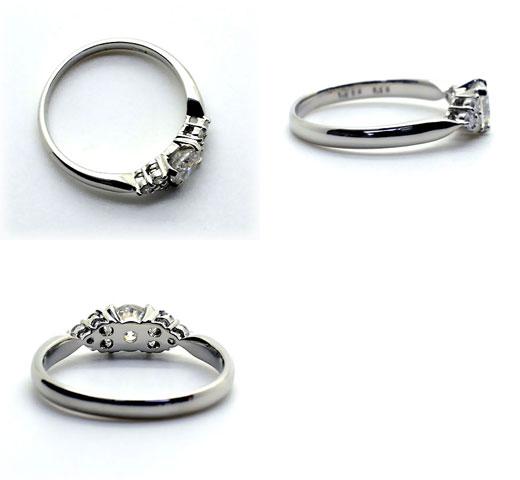 【CGL鑑定書付き】K18WG【0.5ct】ダイヤモンド ブライダルリング エンゲージリング  中央宝石研究所鑑定書付 18k 18金 ホワイトゴールド 一粒ダイヤ 0.5カラット ダイアモンド 指輪 レディース ジュエリー プレゼント ブライダル 結婚 婚約指輪 ring