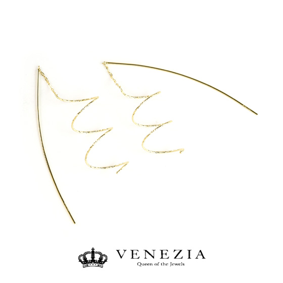 K18 イタリアンジュエリー ロングピアス/ ゴールド 18金 18k イタリアンジュエリー イタリアンピアス ピアス レディース ジュエリー アクセサリー プレゼント 贈り物 VENEZIA