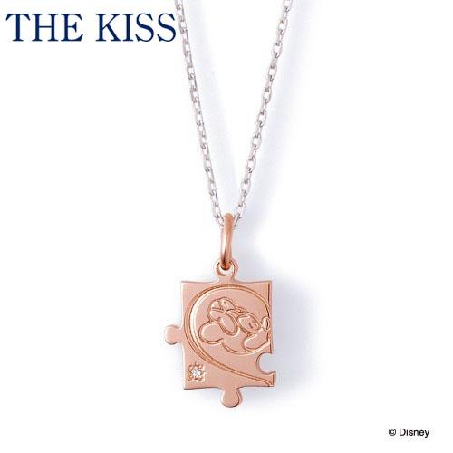【ディズニーコレクション】 ディズニー / ネックレス / ミニーマウス / THE KISS ペア ネックレス・ペンダント シルバー ダイヤモンド (レディース 単品) DI-SN1803DM ザキス 【送料無料】【Disneyzone】