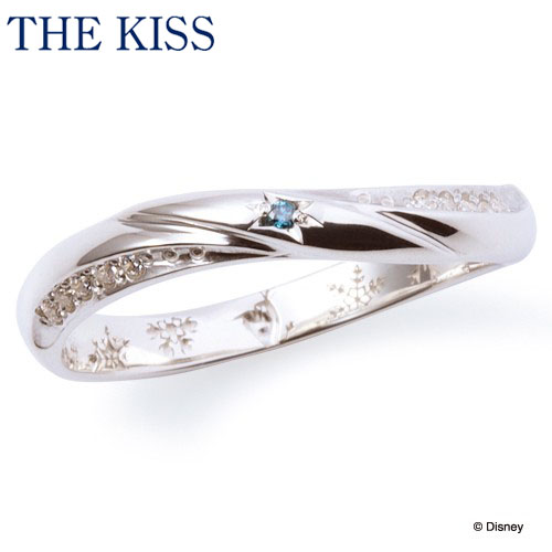 【ディズニーコレクション】 ディズニー / ペアリング / アナと雪の女王 / THE KISS リング・指輪 シルバー ブルーダイヤモンド (レディース 単品) DI-SR6014BDM ザキス 【送料無料】【Disneyzone】