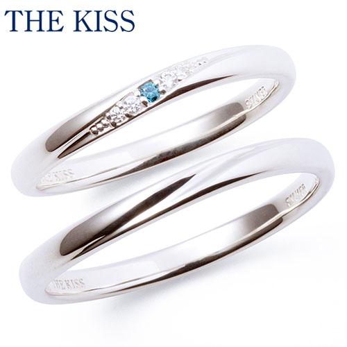 THE KISS シルバー ペアリング ペアアクセサリー カップル に 人気 の ジュエリーブランド THEKISS ペア リング・指輪 記念日 プレゼント SR2006BDM-2007BDM ザキス