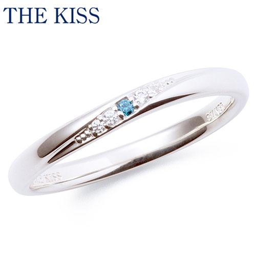 THE KISS シルバー ペアリング ( レディース 単品 ) ブルーダイヤモンド ペアアクセサリー カップル に 人気 の ジュエリーブランド THEKISS ペア リング・指輪 記念日 プレゼント SR2006BDM ザキス 【送料無料】