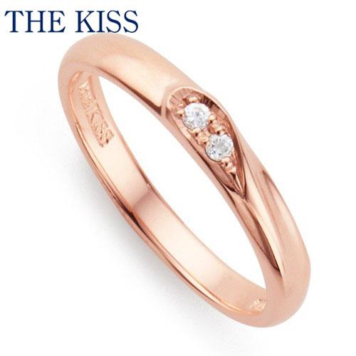 THE KISS シルバー ペアリング ( レディース 単品 ) ダイヤモンド ペアアクセサリー カップル に 人気 の ジュエリーブランド THEKISS ペア リング・指輪 記念日 プレゼント SR2414DM ザキス 【送料無料】