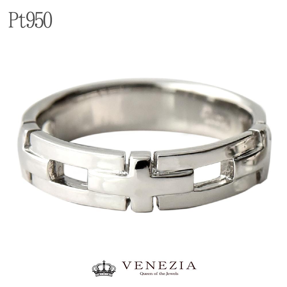 Pt950 プラチナ リング 送料無料 品質保証書付 指輪 ジュエリー メンズ 幅広 地金 地金のリング クロス