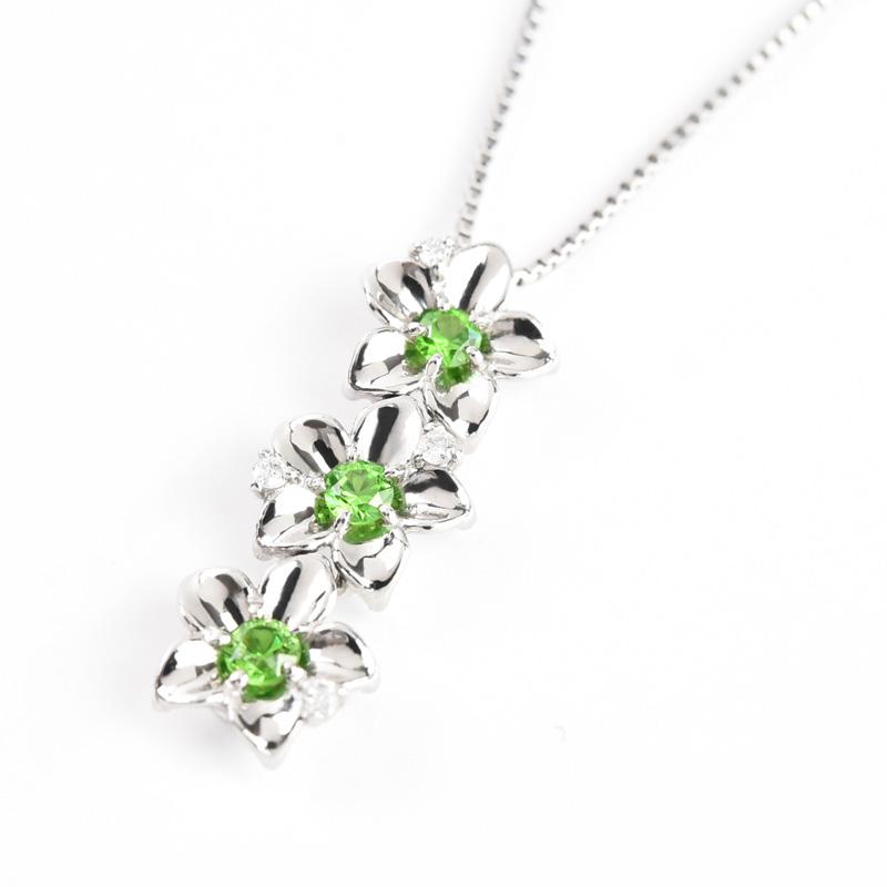 デマントイドガーネット ネックレス Pt900 プラチナ 0.12ct稀少石 レアストーン ダイヤモンド ペンダント ギフト プレゼント 天然石 宝石 限定1点もの