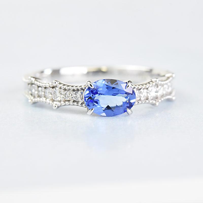 1点限り 限定品 タンザナイト リング 指輪 0.58ct Pt900 プラチナ ダイヤモンド 限定1点もの 新商品