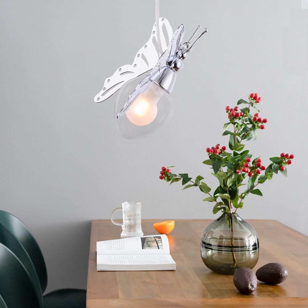 ペンダントライト 北欧 おしゃれ 照明器具 蝶 天井照明 LED モダン デザイン カフェ 店舗 リビング シンプル 階段 吹き抜け ダイニング 洋風 寝室 ユニーク かわいい ベッドルーム ナチュラル バタフライ