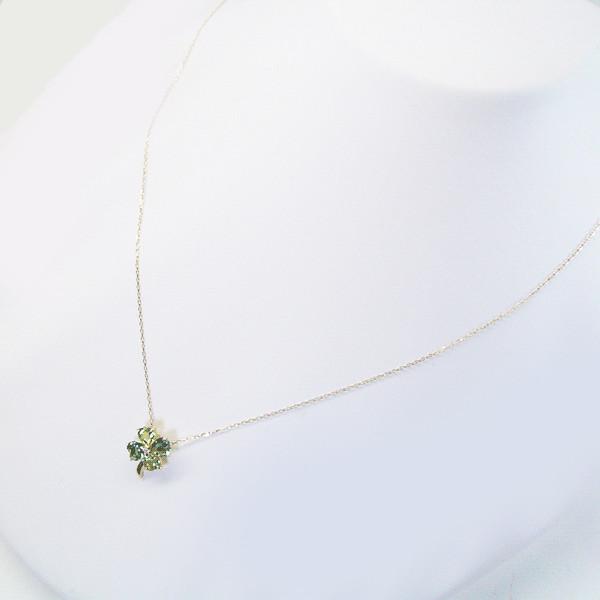18 k 金三葉草鑽石綠色的橄欖石石英產品-馬-0214年 11/30 計畫