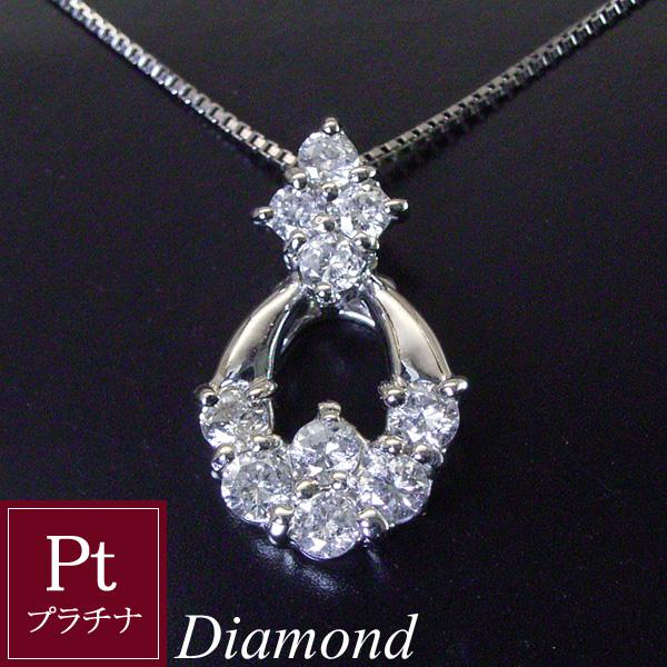 天然 ダイヤモンド ネックレス プラチナ製 豪華0.5カラット 品番OT-003 3営業日前後の発送予定