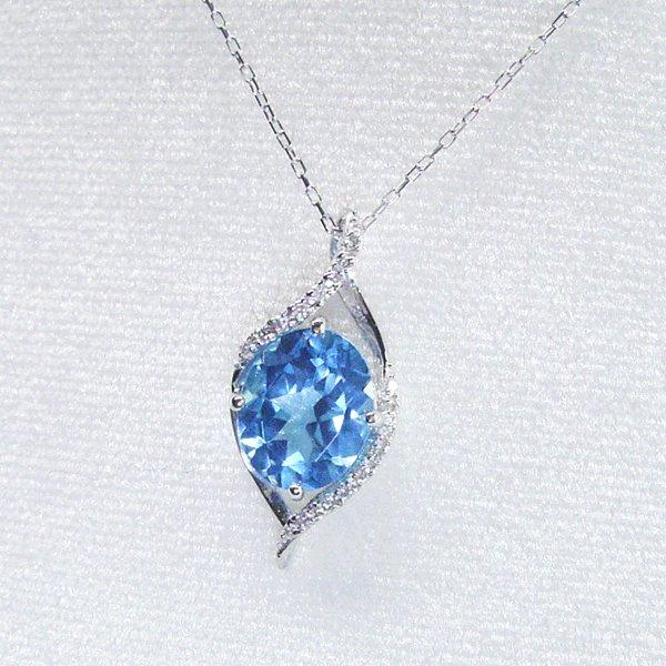 プラチナ 超大粒3カラット ブルートパーズ 天然 ダイヤモンド ネックレス 品番MA 0282 7月6日前後の発送予定5AjLc34Rq