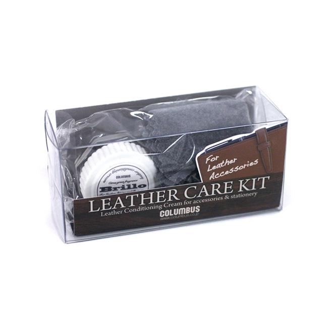 供え コロンブス レザーケアキット ブリオ クロス付き 贈呈 財布 ケアクリーム 鞄 革小物 靴