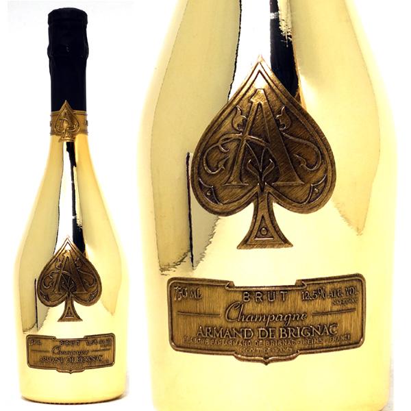 [28]送料無料 アルマン ド ブリニャック ブリュット ゴールド 箱なし 並行品 750mlアルマン・ド・ブリニャック(シャンパン フランス シャンパーニュ)白泡 コク辛口 ワイン チラシ28 ^VAAB26Z0^