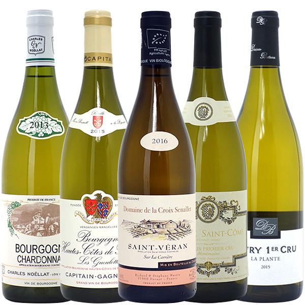 ワインセット 送料無料ブルゴーニュ厳選白ワイン5本セット(第87弾) パーティ 料理に合う 安くて美味しい^W0CH87SE^