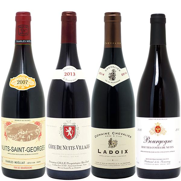 ワインセット 送料無料ブルゴーニュ垂涎の有名蔵赤4本セット(第129弾)赤ワイン パーティ 料理に合う 安くて美味しい^W0ZZ29SE^