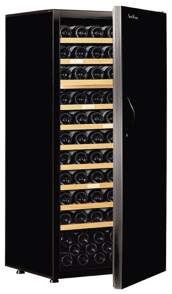 [送料・設置料無料] アルテビノ FM10 150本用(ウッド棚10枚) ノワール/黒 Arte Vino【ワインセラー】 (標準扉・収納本数150本) ^ZHAGFM10^