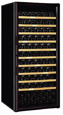 [送料・設置料無料] アルテビノ FVM10 150本用(ウッド棚10枚) ノワール/黒 Arte Vino【ワインセラー】 (ガラス扉・収納本数150本) ^ZHAGVM10^
