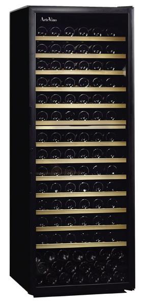 [送料・設置料無料] アルテビノ FVG13 189本用(ウッド棚13枚) ノワール/黒 Arte Vino【ワインセラー】 (ガラス扉・収納本数189本) ^ZHAGVG13^