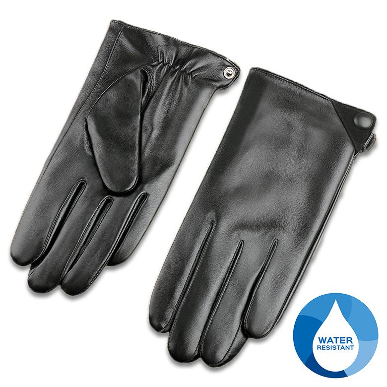 スマートフォン対応の高品質羊革100%の手袋です VeroMan メンズ 本革 羊革 レザー 期間限定特別価格 タッチパネル対応 スマホ対応 ブラック グローブ 裏起毛 開店記念セール 手袋