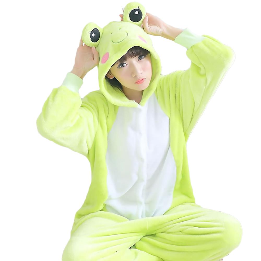 肌触りが柔らかくて、着心地がいピースパジャマです! VeroMan 大人用 動物 着ぐるみ カエル パジャマ ホームウェア 寝間着 コスチューム