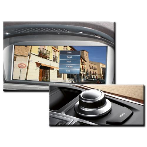 地デジやバックカメラなどの映像を純正モニターに映せます。 BMW LE-PLUS AVインターフェイス X5/E70 X6/E71 CCCシステム搭載車