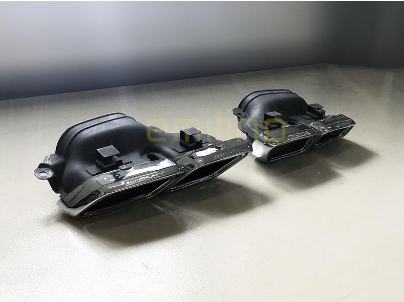 セール商品 在庫有り ベンツ純正 AMG 国内在庫 BENZ W212 初売り E63 エンド 左右 マフラーカッターセット AMG純正 後期