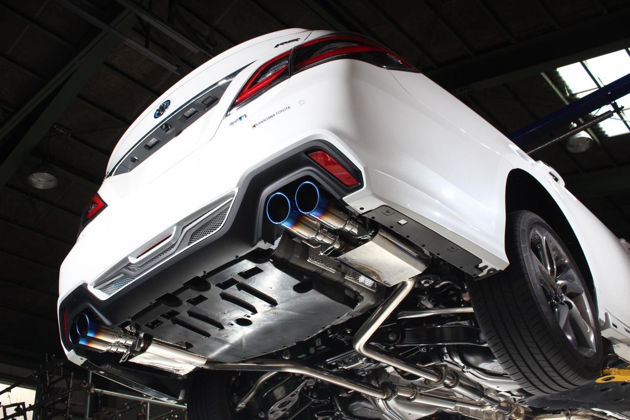 センスブランド 220クラウンハイブリッド 車検対応 リアピース マフラー 新基準対応マフラー 220系 クラウン