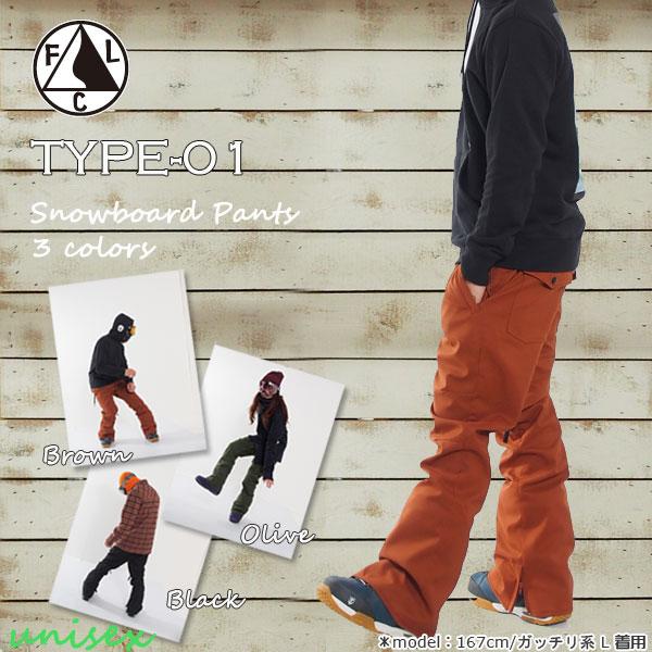 スノーボード ウエア ウェアー FALLLINE clth【フォールラインクロージング】TYPE-01 PANTS【送料無料】