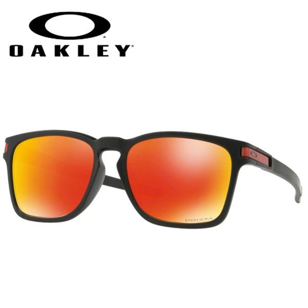 カジュアル ライフスタイル サングラス オークリー OAKLEY LATCH SQ ラッチスクエア ASIANFIT MATTE BLACK/prizm ruby 【app-oakley】