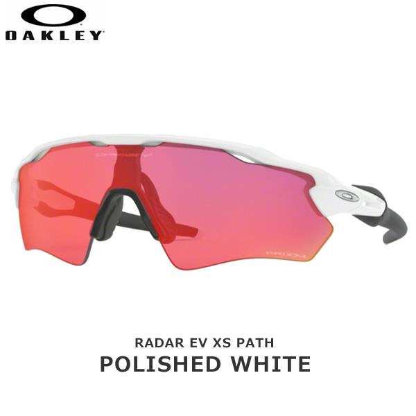 スポーツ サングラス オークリー レーダー イーブイパス OAKLEY RADAR EV XS PATH フレーム:Polished White レンズ:Prizm Field 女性向け あす楽