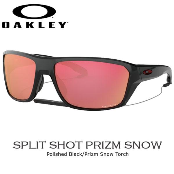 オークリー カジュアル サングラス OAKLEY SPLIT SHOT フレーム Polished Black レンズ Prizm Snow Torch