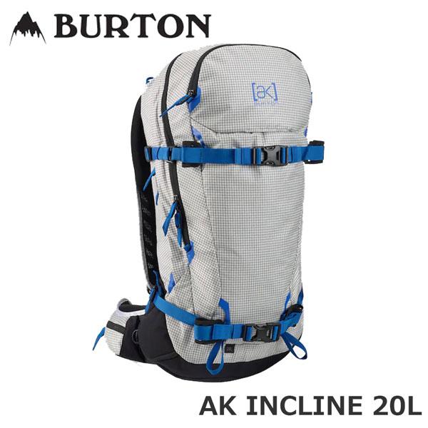 バックカントリー バックパック BURTON バートン AK INCLINE 20L BACKPACK エーケー インクライン サイドカントリー 軽量 フィット あす楽