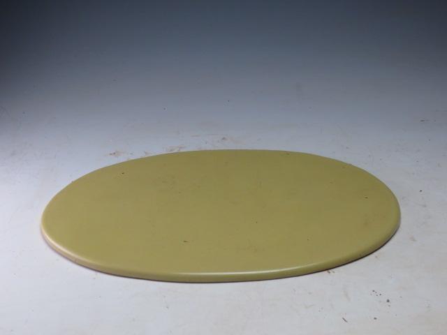 片岡黎鳳 黄色小判陶板