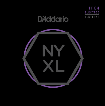 D/'Addario NYXL1164 Nickel Wound Strings for 7-String Electric Guitar