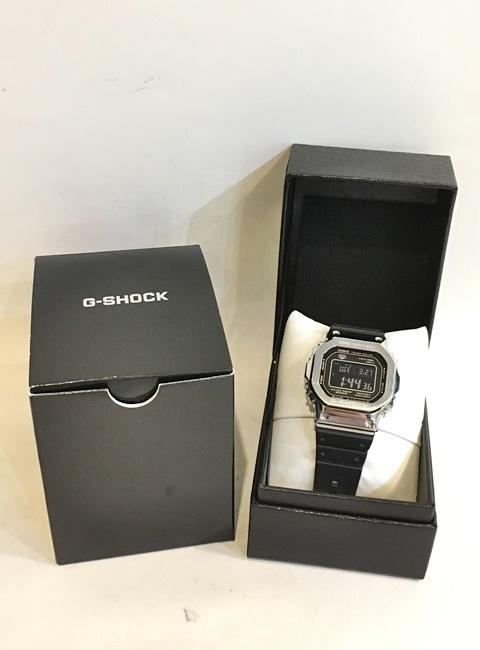 【中古】二子玉) カシオ CASIO G-SHOCK Gショック GMW-B5000 フルメタルケース 電波ソーラー 腕時計 定価4万位 メンズ