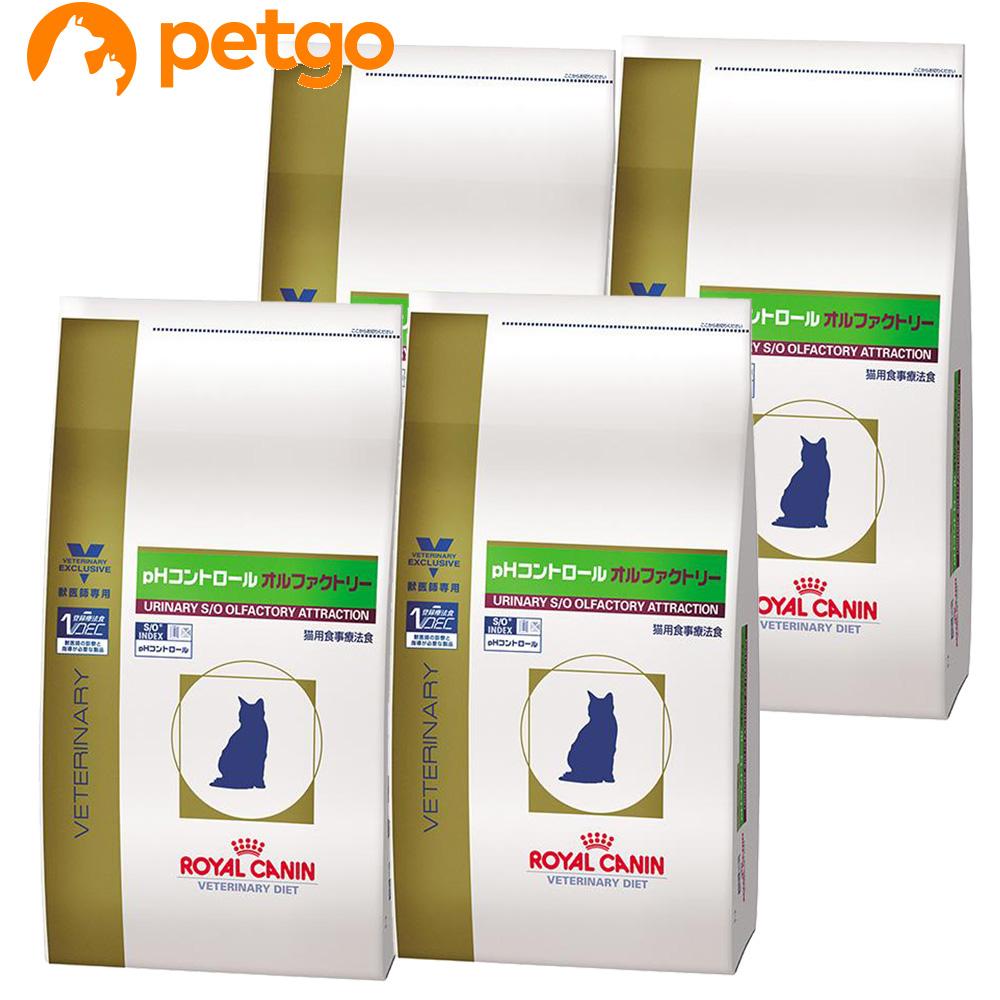 【エントリーでP3倍】ロイヤルカナン 食事療法食 猫用 pHコントロール オルファクトリー ドライ 4kg×4袋【ケース販売】【あす楽】