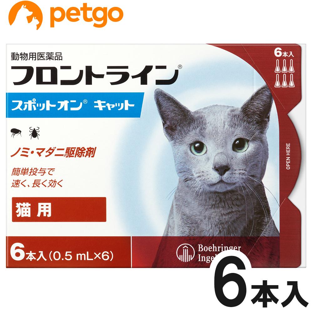 超人気 店内全品送料無料 新作 猫用フロントライン スポットオンキャット 6本 あす楽 動物用医薬品 6ピペット