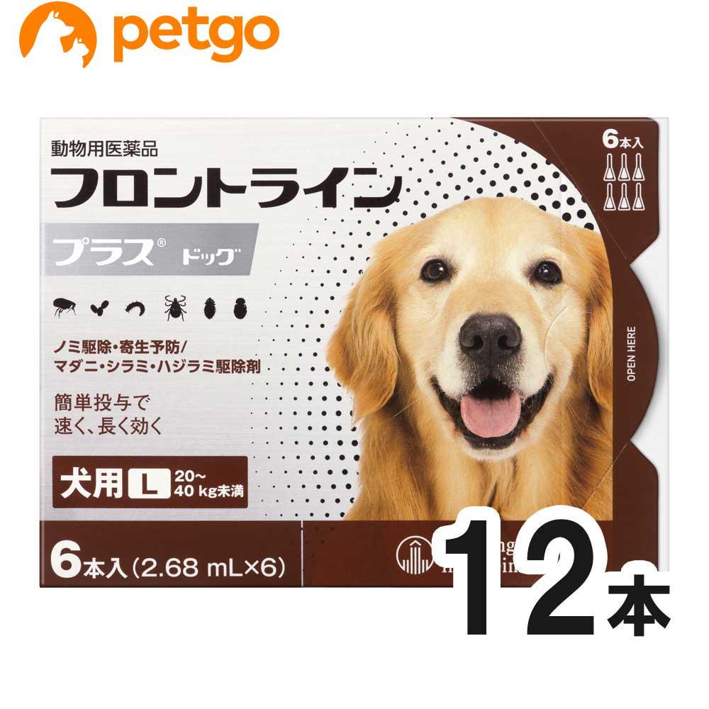 【エントリーでP3倍】【2箱セット】犬用フロントラインプラスドッグL 20kg~40kg 6本(6ピペット)(動物用医薬品)【あす楽】