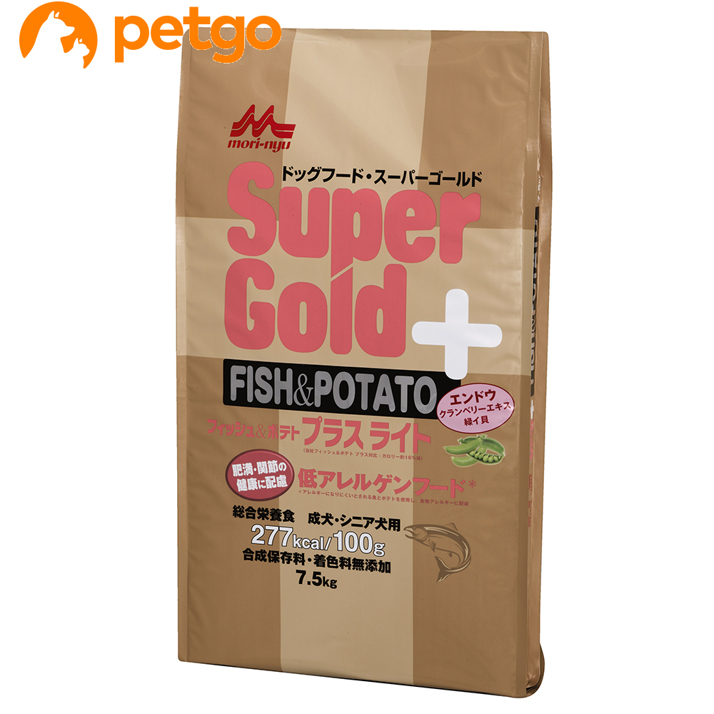 森乳 スーパーゴールド フィッシュ&ポテトプラスライト 肥満・関節の健康に配慮 7.5kg【あす楽】