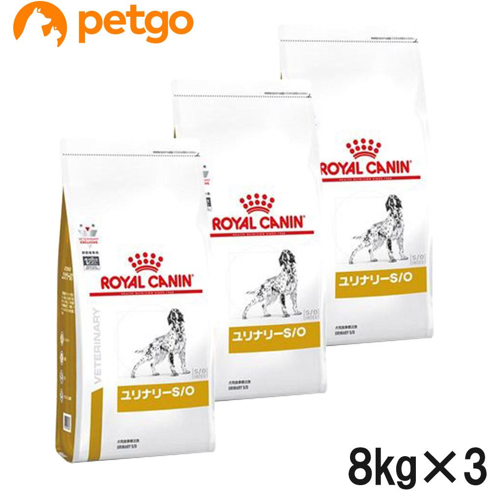 【3袋セット】ロイヤルカナン 食事療法食 犬用 ユリナリーS/O ドライ 8kg (旧 pHコントロール)【あす楽】