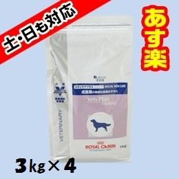 【16時まであす楽対応】 ロイヤルカナン 犬用 ベッツプラン スキンケアプラス ジュニア 3kg×4個 犬 ペット フード プレミアムフード 【正規品】