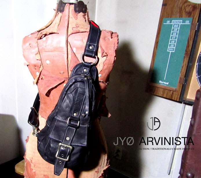 JYO ARVINISTA -DAMAGE 306 collection- 日本製レザー(牛革) ボディバッグ メンズ レディース ユニセックス ボディバッグ 牛革 本革 ユーズドライク仕様 日本製