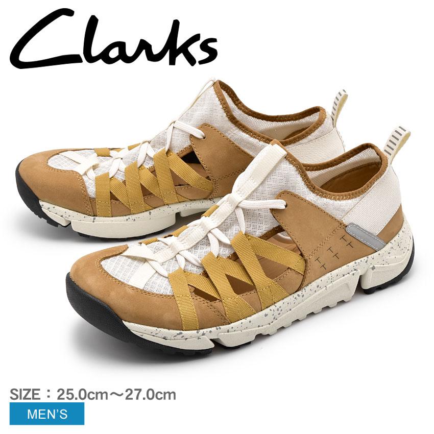 クラークス スニーカー CLARKS ブラウン トライ トラック フロー TRAI TRACK FLOW 26134553 メンズ