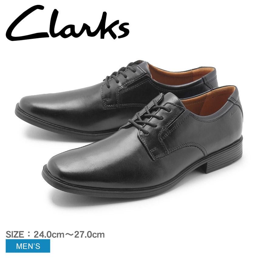 【最大500円引きクーポン】送料無料 【CLARKS】 クラークス ドレスシューズ 紳士靴 ブラックティルデン プレーン TILDEN PLAIN26110350 革靴 通勤 メンズ ブランド レザー 黒