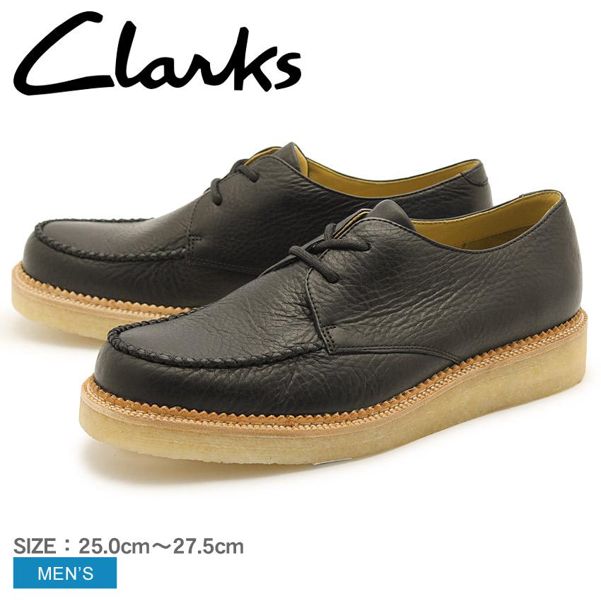 【CLARKS】 クラークス ベッカリー フィールド シューズ ブラック レザー UK規格 (26110040 BECKERY FIELD) くらーくす メンズ MEN 本革 ワラビー 靴 天然皮革